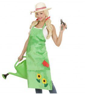Schort Tuinman Met Zonnebloemen Ms Greenfingers Kostuum