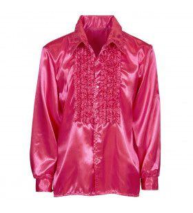 Lekker Foute Rouchenblouse Roze Man