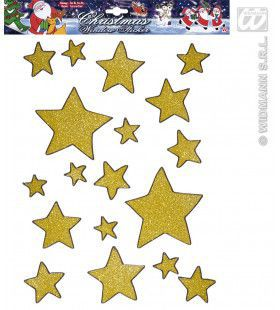 Gouden Glitter Ster Stickers