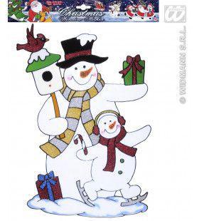 Sneeuwpop Stickers 40cm