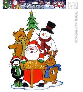 Raamstickers Kerstfeest 40cm