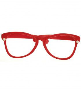 Funnyman Grote Clownsbril, Rood