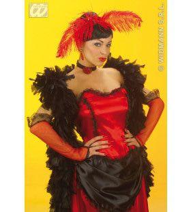 Handschoenen Saloon Dame, Rood