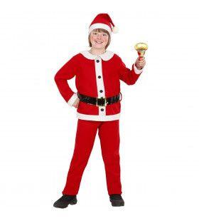 Kerstjongen Flanel Young Santa Kostuum