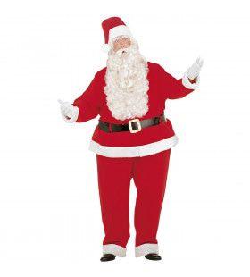 Dikke Uitvoering Kerstman Santa Claus Kostuum