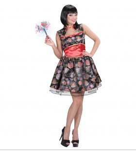 Hippe Chinese Dame Vrouw Kostuum