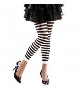 Leggings Zwart / Wit Gestreept Vrouw