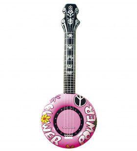 Opblaasbare Banjo, 100cm Rose Flower Power