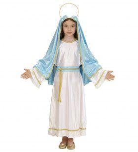 Mini Heilige Maria Meisje Kostuum