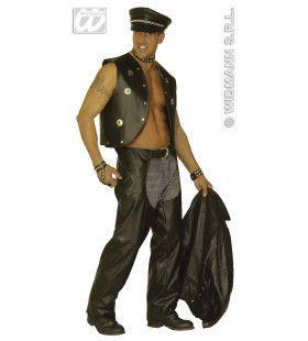 Zwarte Chaps, Lederlook Man