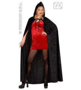 Fluwelen Lange Zwarte Cape (150 Centimeter) Cape Fear Kostuum
