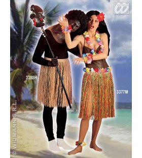 Hawaiirokje Stro Meerkleurig 55 Centimeter