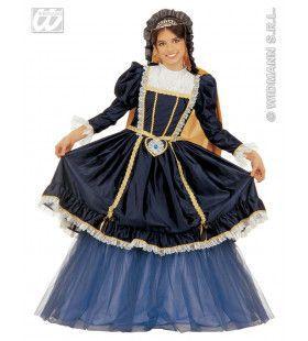 Victoriaanse Court Milady Kostuum Meisje