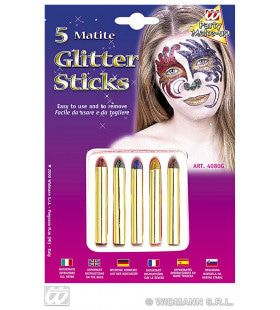5 Glitter Sticks Set