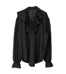 Piratenshirt Dames, Zwart
