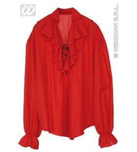 Piratenshirt Dames, Rood Vrouw