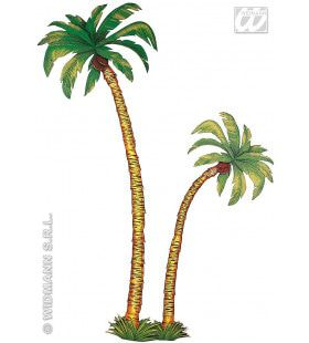 2 Palmbomen 1x180cm, 1x116cm