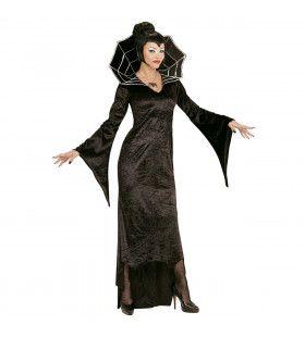 Spiderella Hoge Kraag Vrouw Kostuum