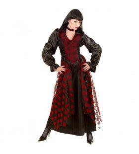 Victoriaanse Dames Vampier Royal Lady Kostuum Vrouw