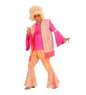 Hippie Heer Mr Pink Kostuum Man