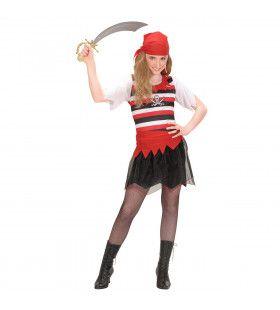 Piratenmeisje Land In Zicht Kostuum
