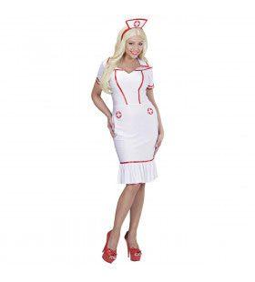Verleidelijke Verpleegster Lang Vrouw Kostuum