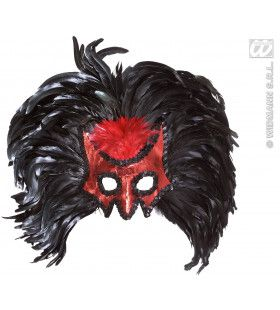 Oogmasker, Duivel Met Jumbo Veren