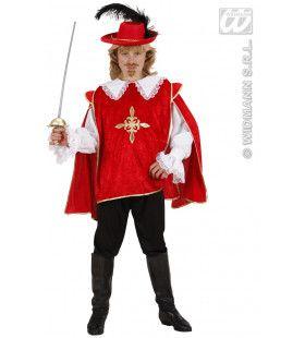 Dartagnan De Musketier Rood Kostuum Jongen
