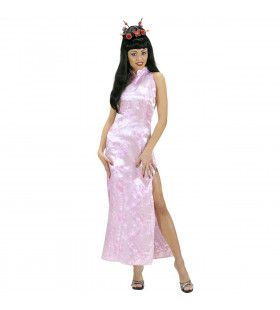 Chinese Dame Rose Pink Orient Kostuum Vrouw