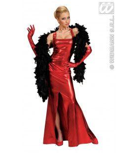 Cocktailjurk Stretch, Rood Elegant Gala Kostuum Vrouw