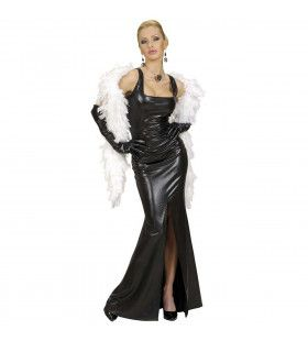 Cocktailjurk Stretch, Zwart Elegant Gala Kostuum Vrouw