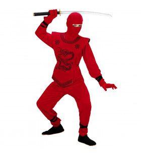 Kyoto Rode Ninja Kostuum Jongen