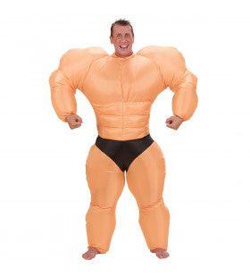 Opblaasbaar Bodybuilder Mr Olympia Kostuum Man