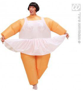 Opblaasbaar Ballet Chuby Dancer Kostuum Man
