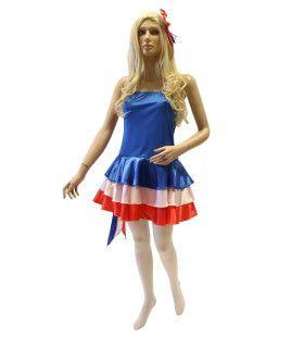 Nations Line Miss Frankrijk Vrouw Kostuum