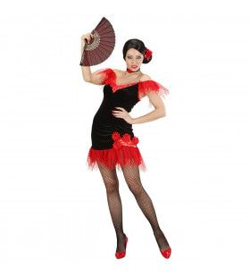 Spaanse Schone Guapa Flamenca Kostuum Vrouw