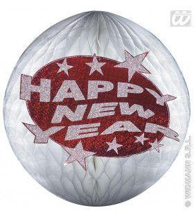Happy New Year Papier Decoratie Rood
