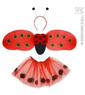 Lieveheersbeestje Set Kind Meisje Kostuum