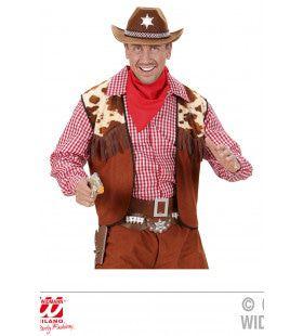 Navajo Hunter Luxe Dubbel Holster Cowboy, Bruin