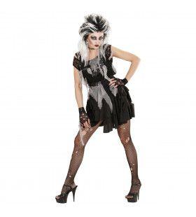 Punk Zombie Kostuum Vrouw