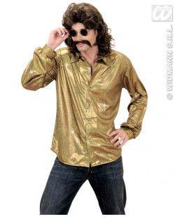 Holografisch Shirt, Goud XL Man