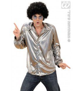 Holografisch Shirt, Zilver Man