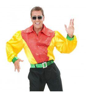 Shirt Pailletten Satijn 3-Kleuren Man Kostuum