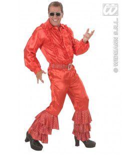 Rode Broek Satijn Met Pailletten Man
