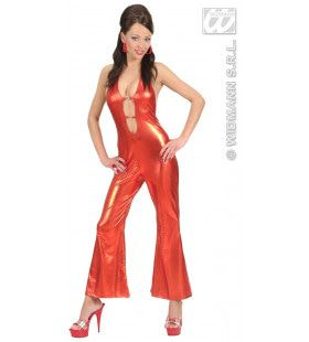 Jumpsuit Rood Hot & Jumping Kostuum Vrouw
