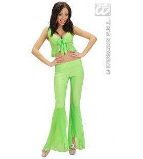 Samba Top En Broek Neon Groen Vibes Kostuum Vrouw