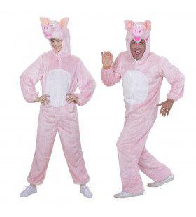 Pluche Varken Piggy Pig Volwassen Kostuum