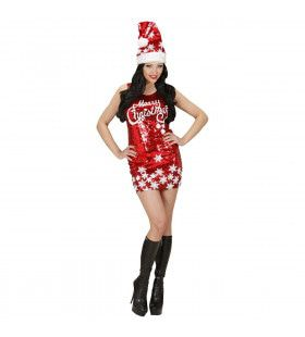 Paillettenjurk Merry Christmas Vrouw