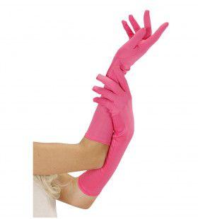 Handschoen Lang Neon, Roze