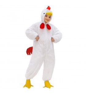 Full-Body Pluche Witte Kip Kind Kostuum